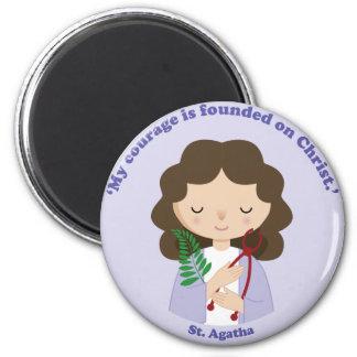 St. Agatha 2 Inch Round Magnet