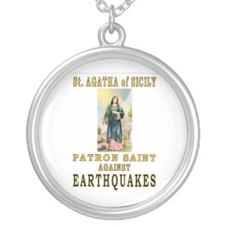 ST. AGATHA of SICILY Round Pendant Necklace