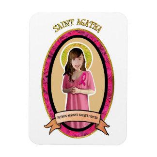 St Agatha patron against breast cancer icon magnet