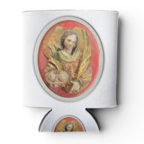 St Agatha Patron Saint of Breast Cancer Can Cooler