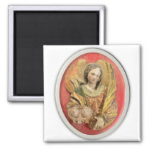 St Agatha Patron Saint of Breast Cancer Magnet