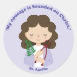 St. Agatha Round Sticker