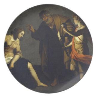 St. Agatha w/St. Peter & Angel - Alessandro Turchi Melamine Plate