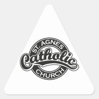 St. Agnes Catholic Church Black Sticker