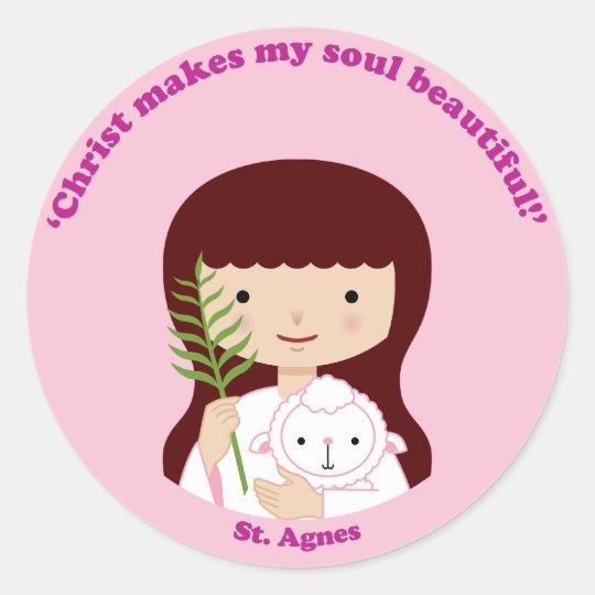 St. Agnes Classic Round Sticker