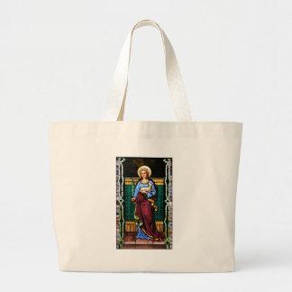 St Agnes of Rome, holding lamb and palm leaf Jumbo Tote Bag