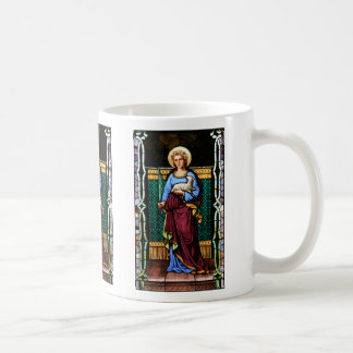 St Agnes of Rome, holding lamb and palm leaf Coffee Mug