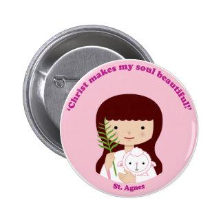 St. Agnes Pinback Button