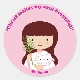 St. Agnes Round Sticker