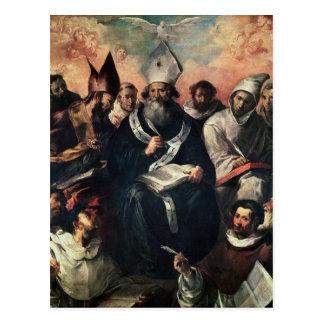 St. Albahaca que dicta su doctrina Postal