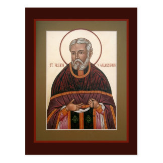 St. Alexis (Toth) of Wilkes-Barre Prayer Card Post Card