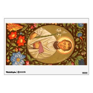 "St. Aloysius Gonzaga (P.M. 01) 12"" x18 "" Vinilo Adhesivo"