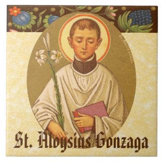 St. Aloysius Gonzaga (P.M. 01a) Azulejo Cuadrado Grande
