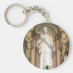 St. Aloysius Gonzaga Statue Basic Round Button Keychain