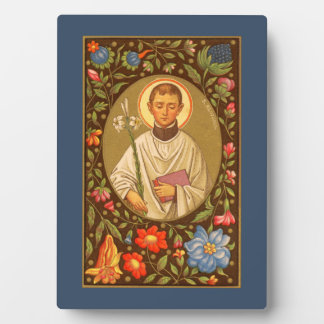 """St. Aloysius (PM 01) 5""""x7"""" Plaque #1 with Easel"""