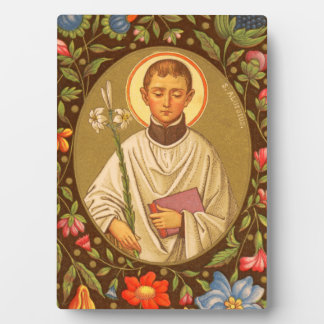 """St. Aloysius (PM 01) 5""""x7"""" Plaque #2 with Easel"""