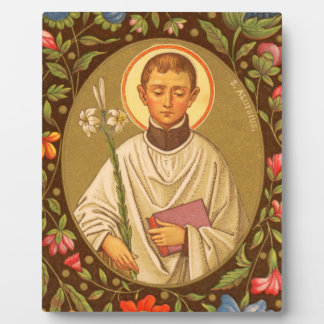 """St. Aloysius (PM 01) 8""""x10"""" Plaque #2 With Easel"""