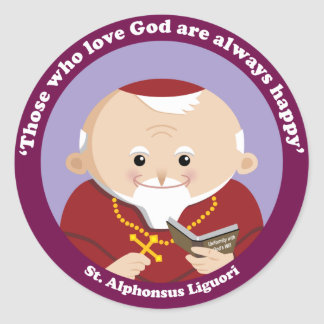 St Alphonsus Liguori Classic Round Sticker