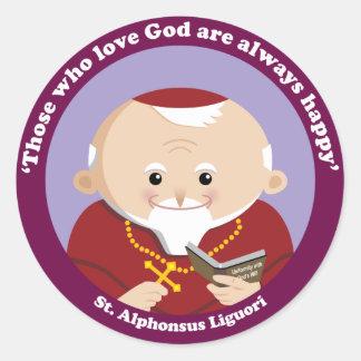 St Alphonsus Liguori Pegatina Redonda