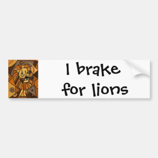 ST- Amazing Lion Abstract Art Design Bumper Sticker