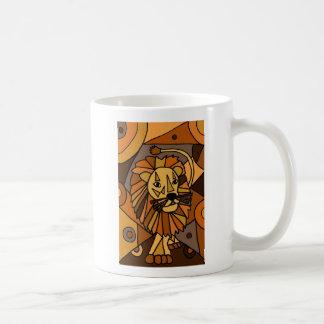ST- Amazing Lion Abstract Art Design Coffee Mug