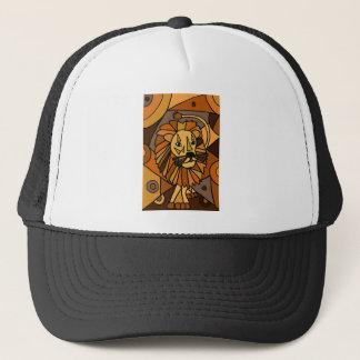 ST- Amazing Lion Abstract Art Design Trucker Hat