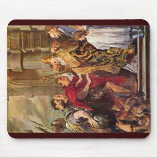 St. Ambrose And Emperor Theodosius Mouse Pad