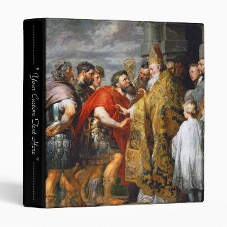 St. Ambrose and Emperor Theodosius  Paul Rubens 3 Ring Binder