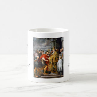 St. Ambrose and Emperor Theodosius  Paul Rubens Coffee Mug