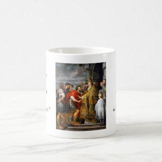 St. Ambrose and Emperor Theodosius  Paul Rubens Coffee Mug