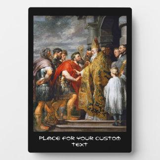 St. Ambrose and Emperor Theodosius  Paul Rubens Plaque