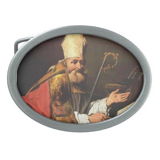 St. Ambrose by Matthias Stom Belt Buckle