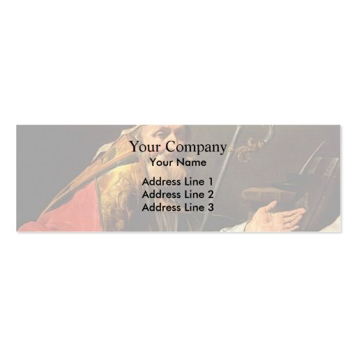 St. Ambrose by Matthias Stom Business Cards