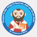 St Ambrose de Milano Etiquetas Redondas