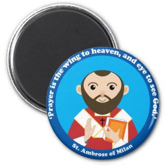 St. Ambrose of Milan 2 Inch Round Magnet
