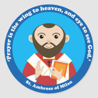 St. Ambrose of Milan Classic Round Sticker