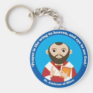 St. Ambrose of Milan Key Chains