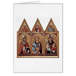 St.Ambrose St.Augustine By Simone Martini Greeting Card