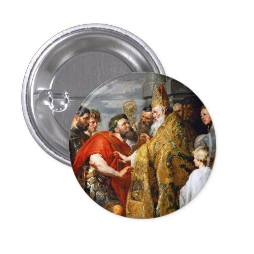 St Ambrose y emperador Theodosius Paul Rubens Pins