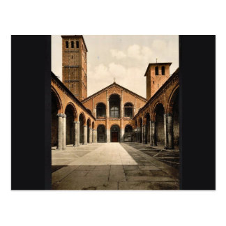 St. Ambrosius Church, Milan, Italy classic Photoch Postcard