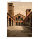 St Ambrosius Church, Milan, Lombardy, Italy Greeting Card