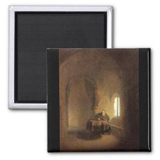 St. Anastasius by Rembrandt Harmenszoon van Rijn Fridge Magnet