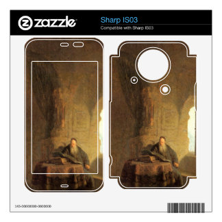 St Anastasius by Rembrandt Harmenszoon van Rijn Decal For Sharp IS03