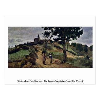 St-Andre-En-Morvan By Jean-Baptiste Camille Corot Postcard