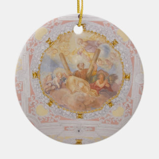 St Andreas Babenhausen Mural Double-Sided Ceramic Round Christmas Ornament