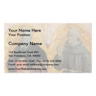 St. Andrew and St. Bernardino by Piero Francesca Business Card