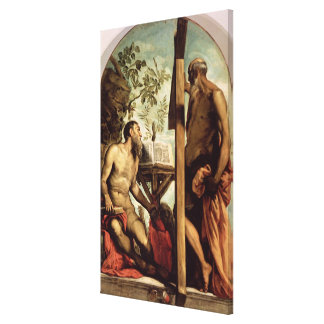 St. Andrew and St. Jerome Canvas Print