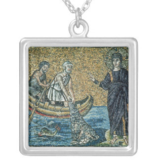 St. Andrew and St. Peter Square Pendant Necklace