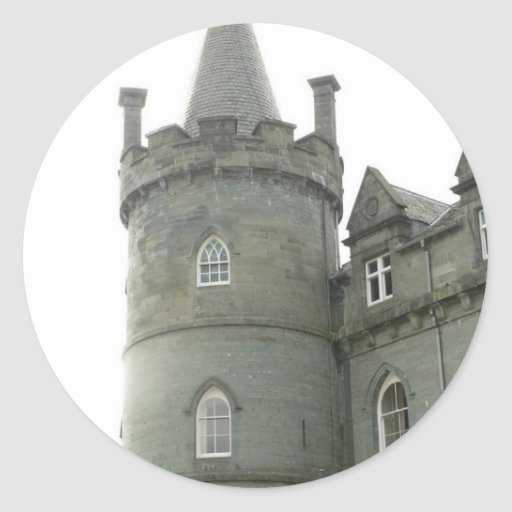 St Andrew Castle Tower Round Stickers