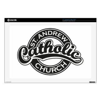"St. Andrew Catholic Church Black and White Skins For 17"" Laptops"